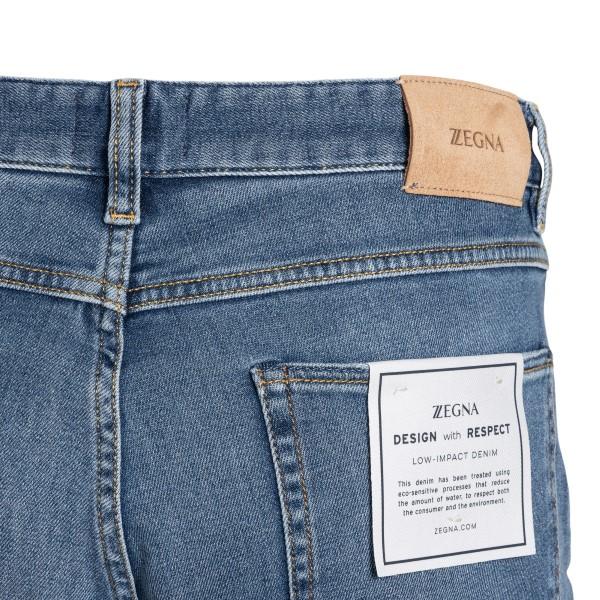 Jeans blu chiaro con patch logo                                                                                                                        ZEGNA                                              ZEGNA