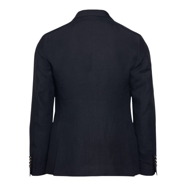 Double-breasted black jacket                                                                                                                           REVERES