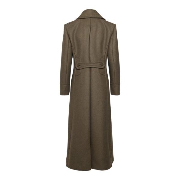 Long brown coat                                                                                                                                        ALBERTA FERRETTI