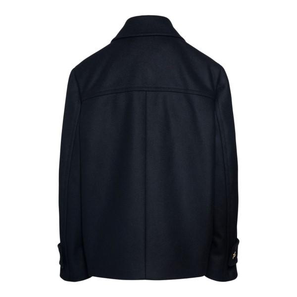 Cappotto caban nero a doppiopetto                                                                                                                      VERSACE                                            VERSACE