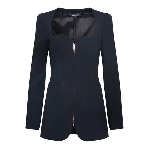 Blazer nero con zip                                                                                                                                   Versace 1002010 retro
