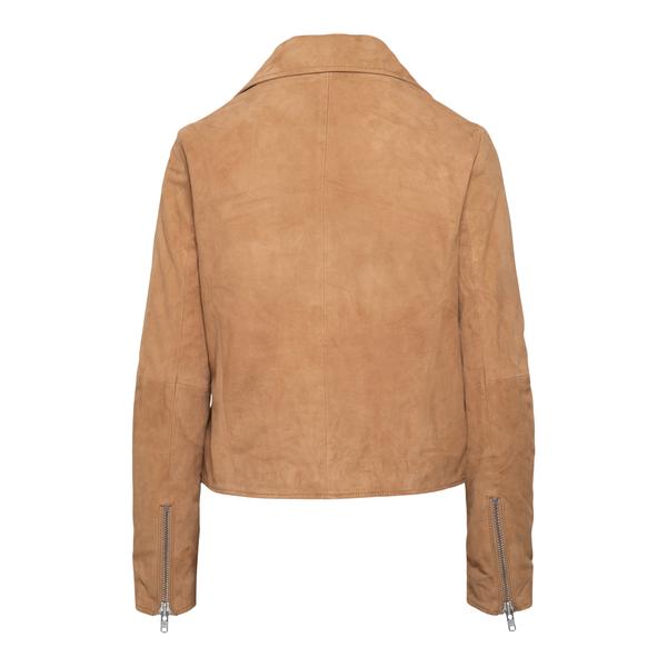 Beige jacket with off-center zip                                                                                                                       SWORD
