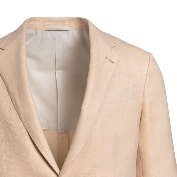 Light pink blazer with logo                                                                                                                            ZEGNA