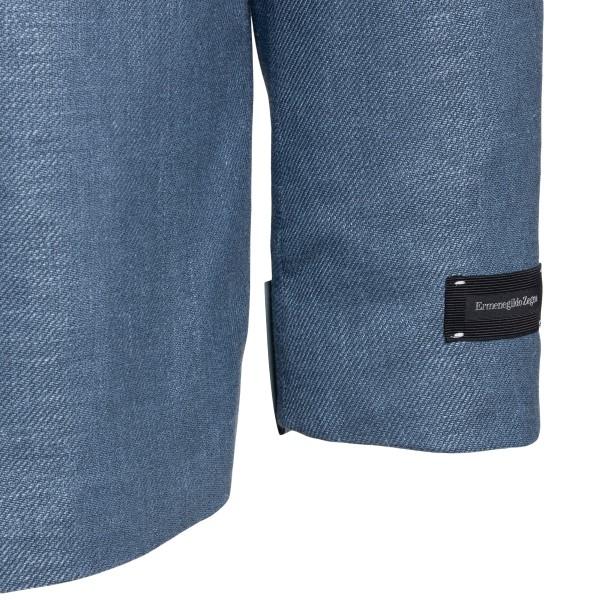 Blazer azzurro scuro con logo                                                                                                                          ZEGNA                                              ZEGNA