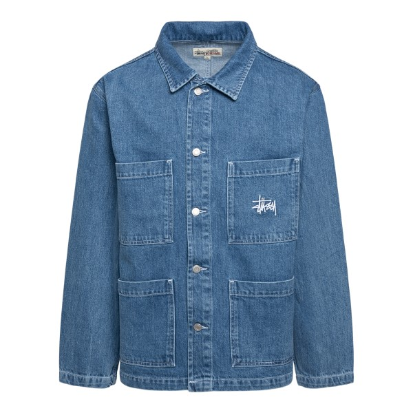 Denim shirt with multiple pockets                                                                                                                     Stussy 115570 front