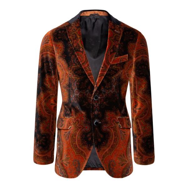 Orange paisely patterned blazer                                                                                                                        ETRO