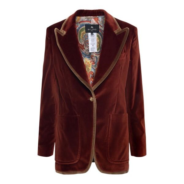 Rust velvet blazer                                                                                                                                    Etro 18110 back