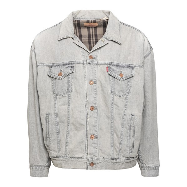 Grey denim jacket with embroidery                                                                                                                     Levi's 18871 front