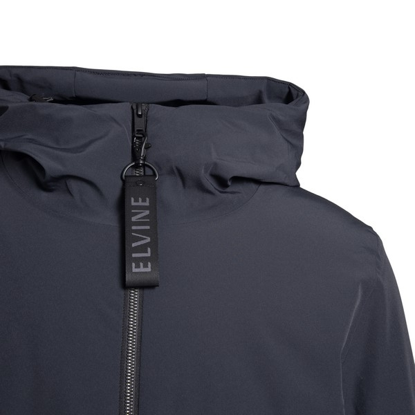 Giacca impermeabile nera con logo                                                                                                                      ELVINE                                             ELVINE