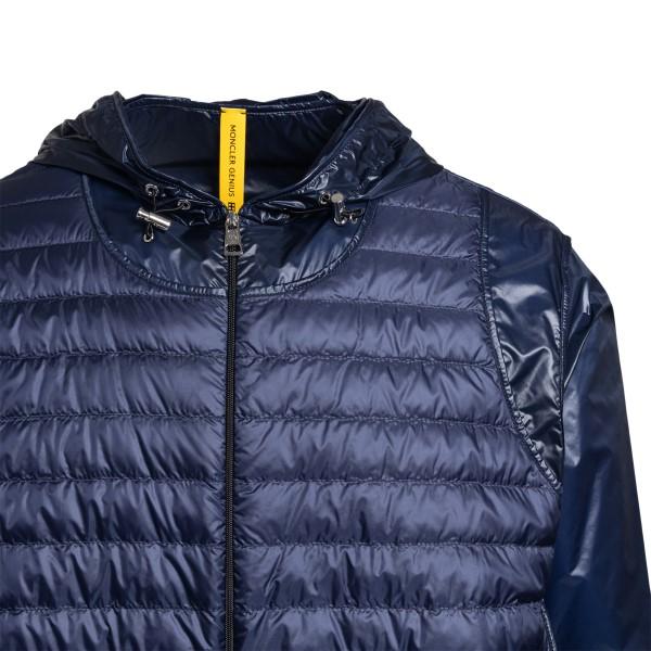 Blue puffer jacket in paneled design                                                                                                                   MONCLER CRAIG GREEN