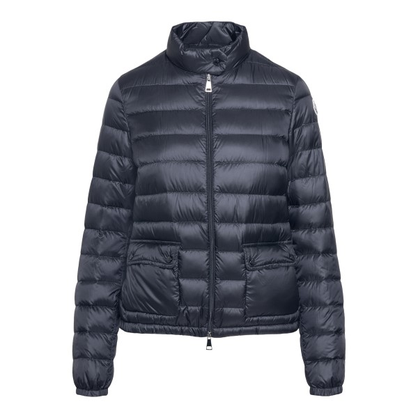 Dark grey down jacket with logo patch                                                                                                                 Moncler 1A10100 front