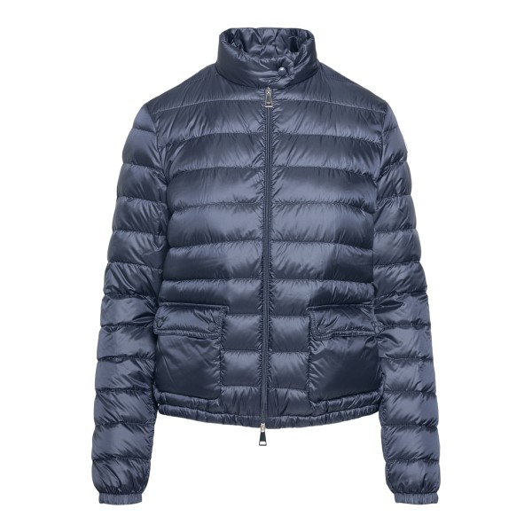 Blue down jacket with logo patch                                                                                                                      Moncler 1A10100 front