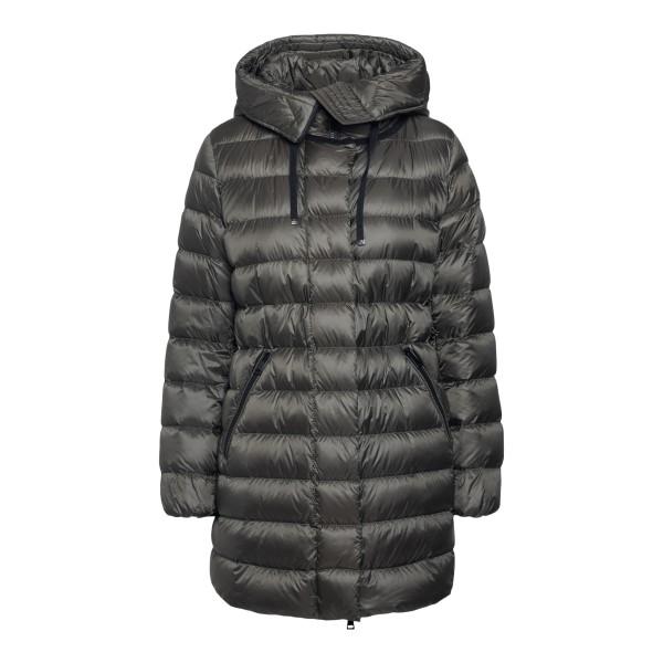 Black padded down jacket with logo                                                                                                                    Moncler 1B55900 back