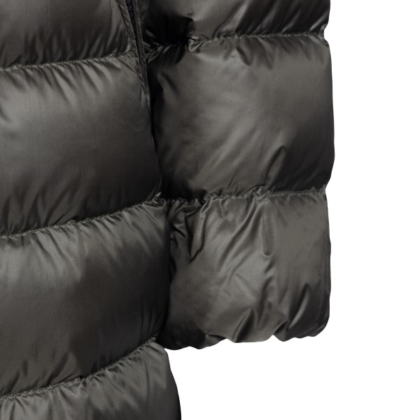 Black padded down jacket with logo                                                                                                                     MONCLER