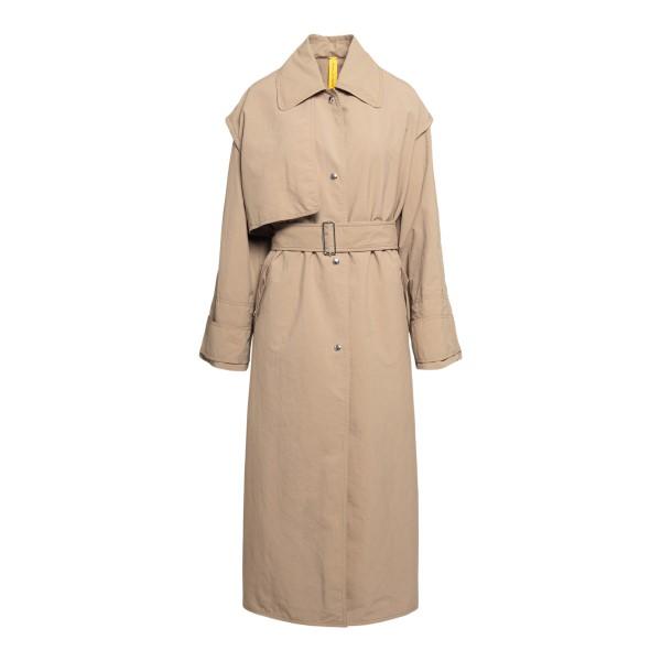 Beige trench coat with bavolet                                                                                                                        Moncler 1952 1D70500 front