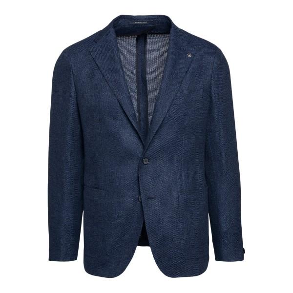 Dark blue blazer with logo application                                                                                                                Tagliatore 1SMC22K back