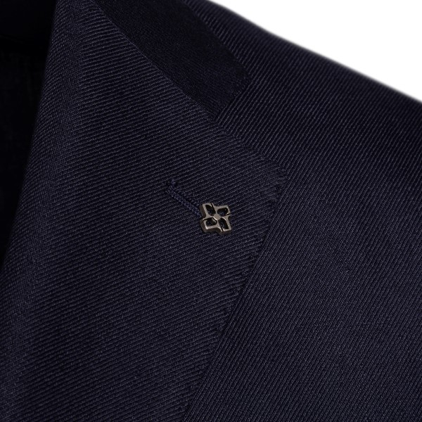 Dark blue blazer with logo                                                                                                                             TAGLIATORE