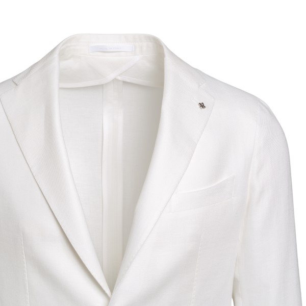 White blazer with logo                                                                                                                                 TAGLIATORE