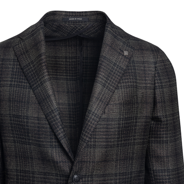 Black checked blazer                                                                                                                                   TAGLIATORE