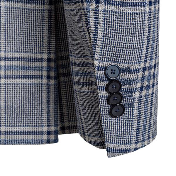 Grey and blue checked blazer                                                                                                                           TAGLIATORE