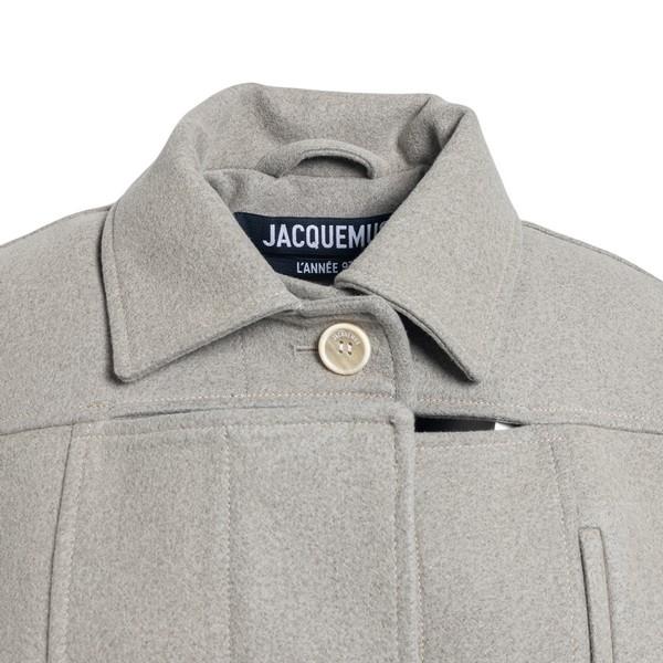 Grey crop coat                                                                                                                                         JACQUEMUS