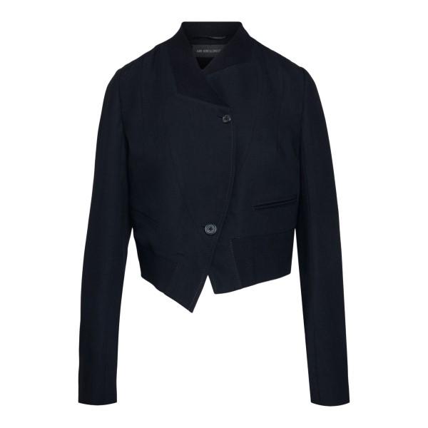 Black asymmetrical jacket                                                                                                                             Ann Demeulemeester 21011020 back
