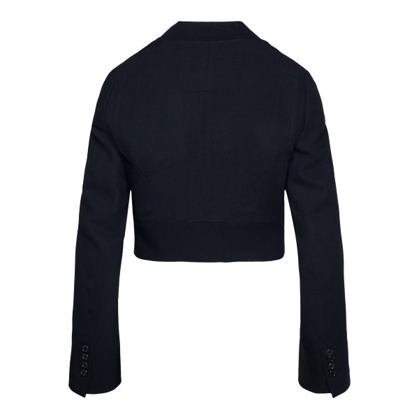 Black asymmetrical jacket                                                                                                                              ANN DEMEULEMEESTER