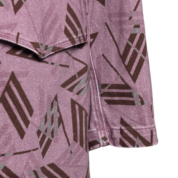 Long pink jacket with logo pattern                                                                                                                     THE ATTICO