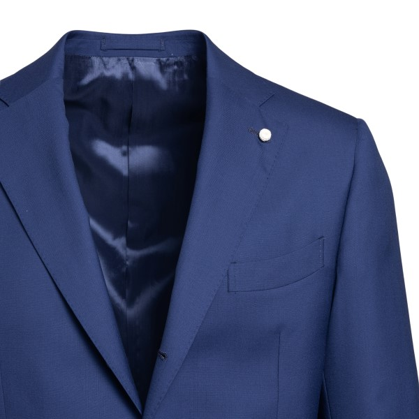 Elegant blue blazer with application                                                                                                                   LUBIAM