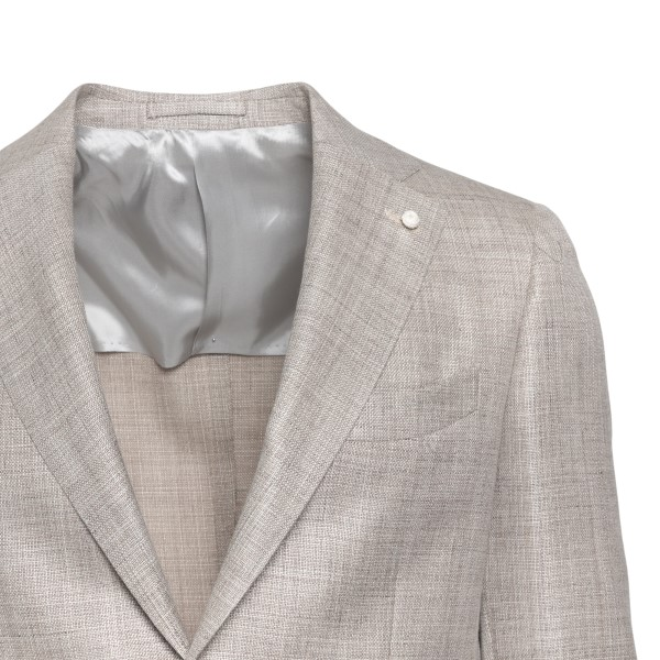 Beige jacket with woven texture                                                                                                                        LUBIAM