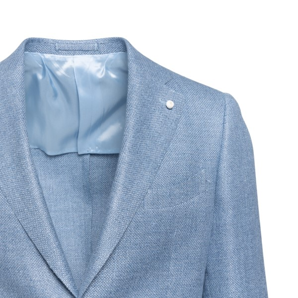 Light blue jacket with woven texture                                                                                                                   LUBIAM
