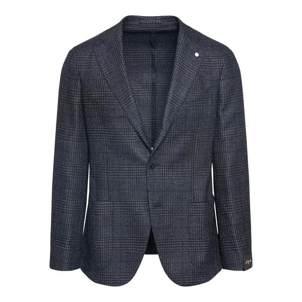 Dark grey checked blazer                                                                                                                              Lubiam 2401 back
