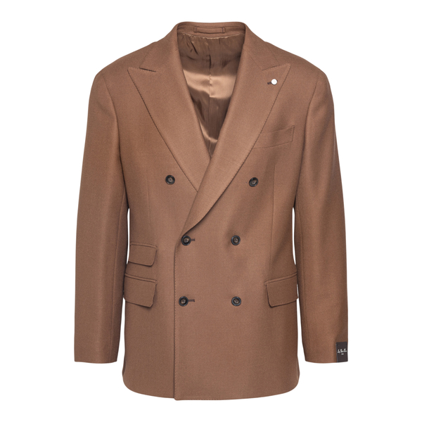 Brown double-breasted blazer                                                                                                                           LUBIAM