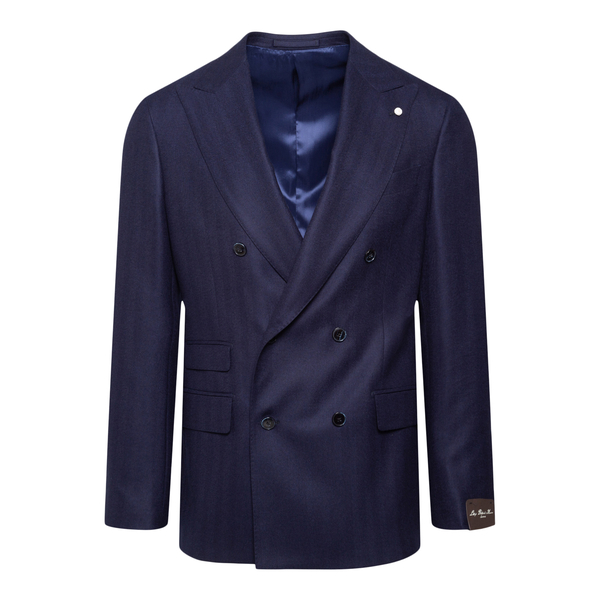 Double-breasted blue blazer                                                                                                                            LUBIAM