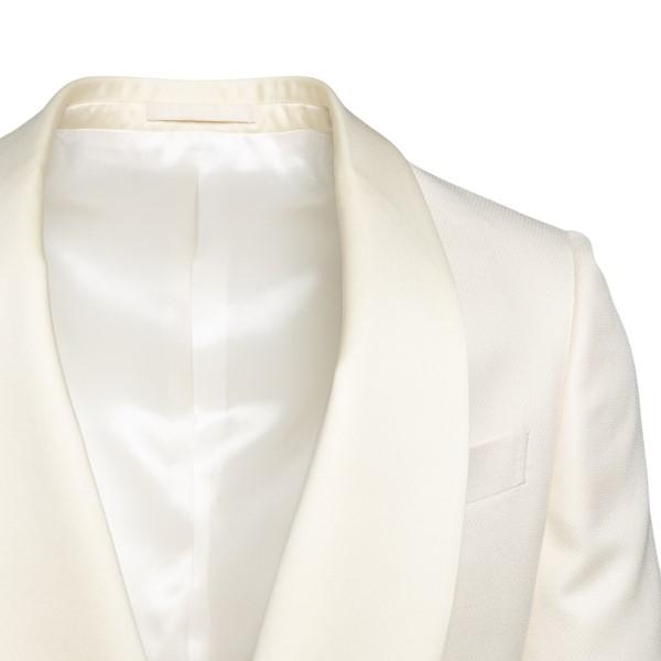 Blazer bianco con revers a scialle                                                                                                                     LUBIAM                                             LUBIAM