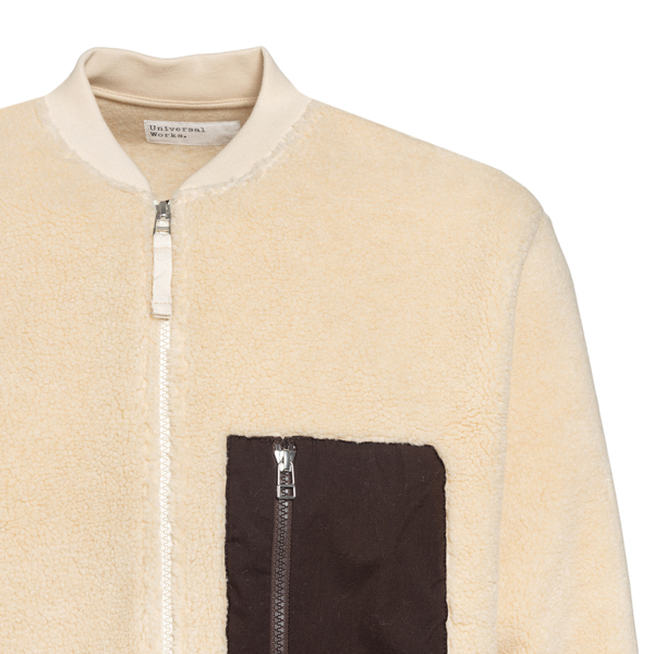 Ivory shearling effect jacket                                                                                                                          UNIVERSAL WORKS