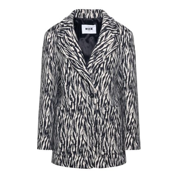 Zebra blazer                                                                                                                                          Msgm 3141MDG03 back
