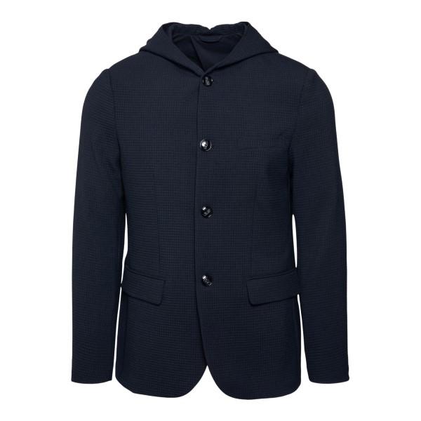 Blue hooded jacket                                                                                                                                    Emporio Armani 3K1GN6 back