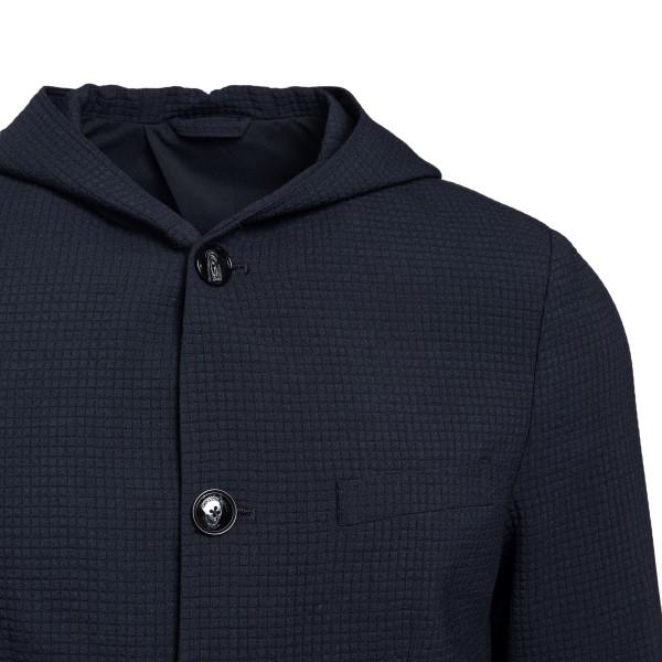 Blue hooded jacket                                                                                                                                     EMPORIO ARMANI