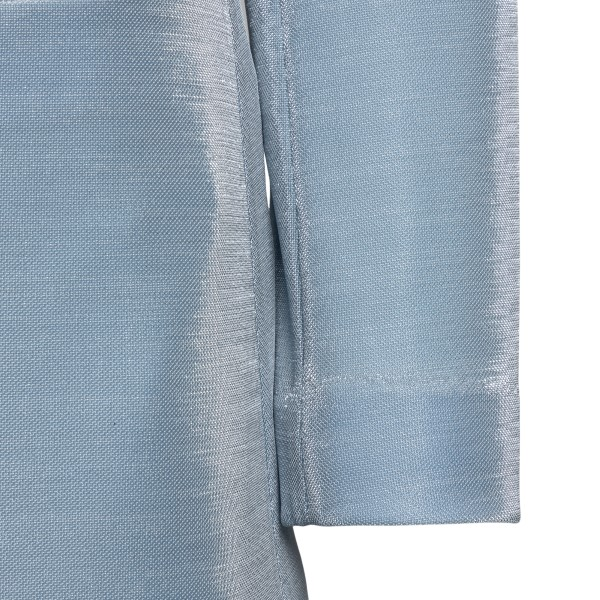Light blue lurex blazer                                                                                                                                EMPORIO ARMANI