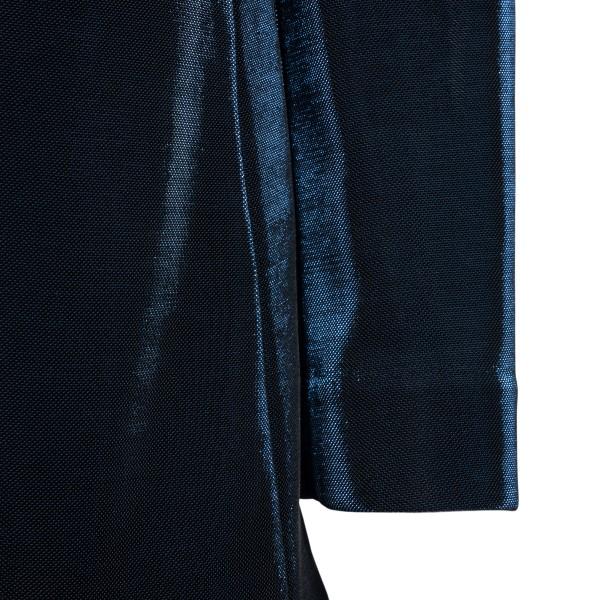 Navy blue lurex blazer                                                                                                                                 EMPORIO ARMANI
