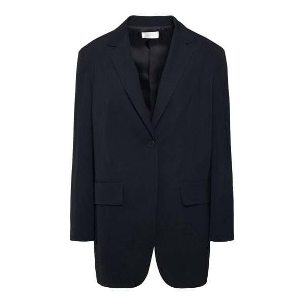 Long single-breasted black blazer                                                                                                                     The Row 5225 back