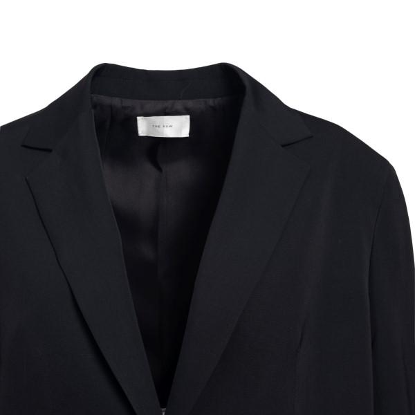 Long single-breasted black blazer                                                                                                                      THE ROW