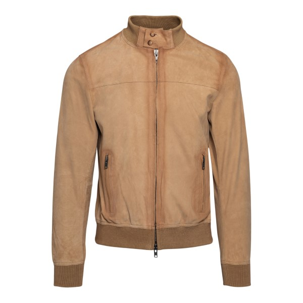 Hazelnut suede leather jacket                                                                                                                         Sword 5341 back