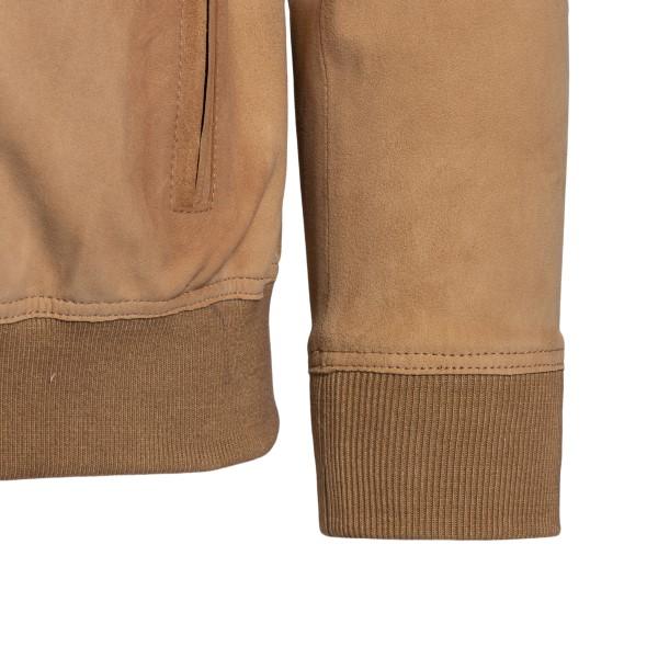 Hazelnut suede leather jacket                                                                                                                          SWORD