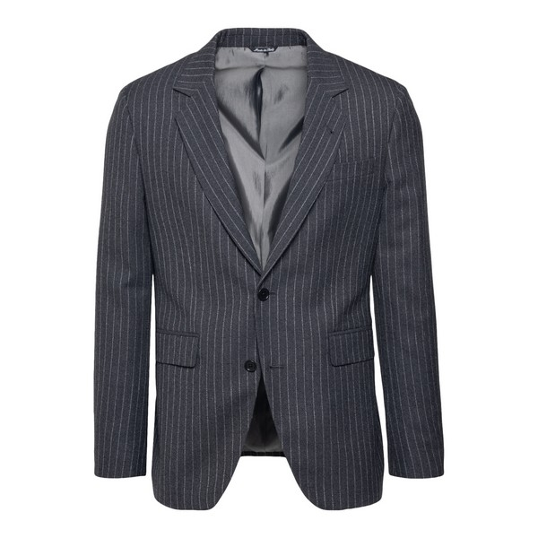 Grey blazer with striped pattern                                                                                                                      Reveres 540570 front
