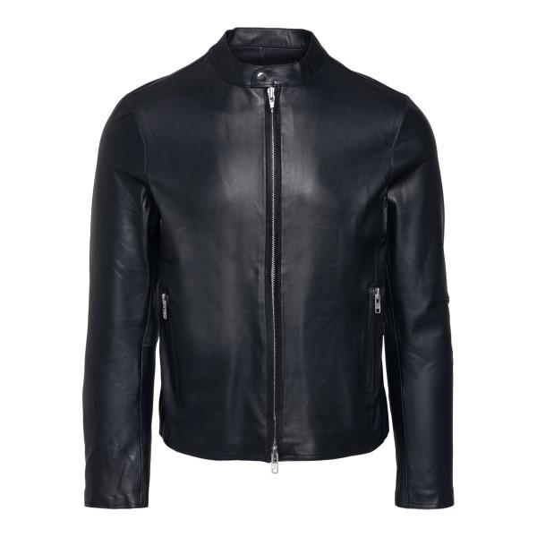 Black leather jacket with zip                                                                                                                          SWORD