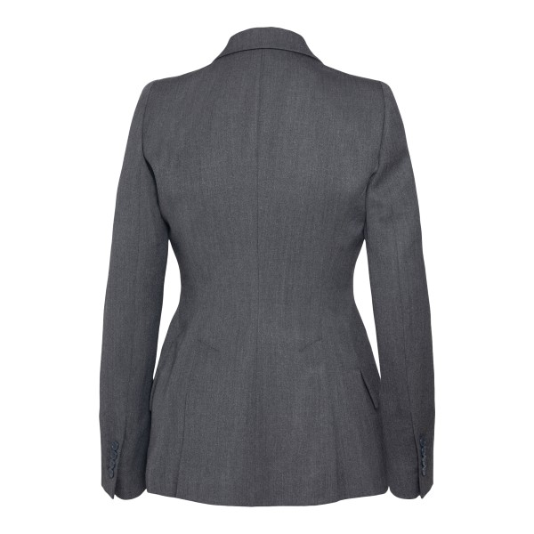 Slim fit grey blazer                                                                                                                                   ALEXANDER MCQUEEN