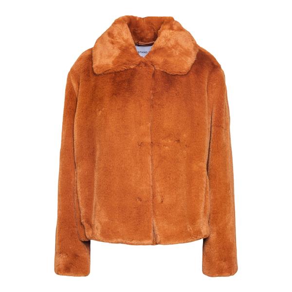 Orange faux fur jacket                                                                                                                                Stand Studio 61060 back