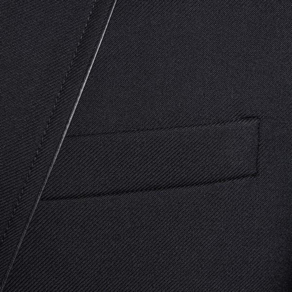 Black blazer with shiny finishes                                                                                                                       SAINT LAURENT